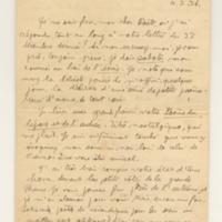 Lettre de R-E Hart 04-02-1926