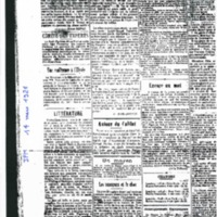 Articles parus dans le Journal Franco-malgache