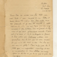 Lettre de R-E Hart 26-11-1925