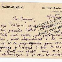 Lettre à Jean Ballard 06-12-1931