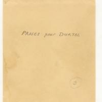 Proses pour Durtal [Ms2]