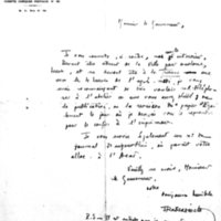 Lettre à Lucien Montagné 10-09-1931