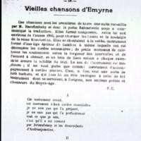 Vieilles chansons d'Emyrne