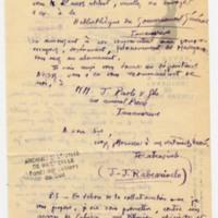 Lettre à Jean Ballard 27-07-1931