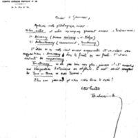 Lettre à Lucien Montagné 20-09-1931