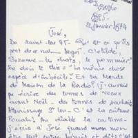 18. Lettre à José Pivin 1975-01-21