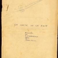 Conte de la nuit [Un] [Ms2]