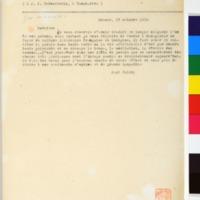 Lettre de Paul Valéry 23-10-1930
