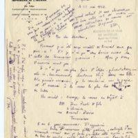 Lettre à Jean Ballard 22-05-1932
