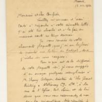 Lettre de R-E Hart 13-12-1924