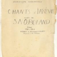 Chants d'Iarive précédés de Snoboland[Ms1]