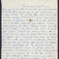 1. Lettre à José Pivin 1973-07-16