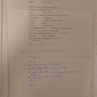 Une liste manuscrite d'identification des signataires de la pétition en faveur de Monge mentionnée dans l'arrêté.