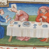 Le cœur mangé_Guglielmo Rossiglione donne à manger à sa femme le cœur de Guardastagno_Scuola del Maestro del Duca di Bedford.png